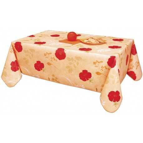 toile cir e 180 coquelicots saumon nortufting. Black Bedroom Furniture Sets. Home Design Ideas