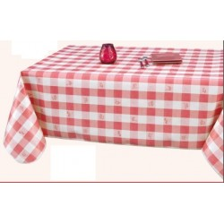 PROTÈGE TABLE COSY rouge