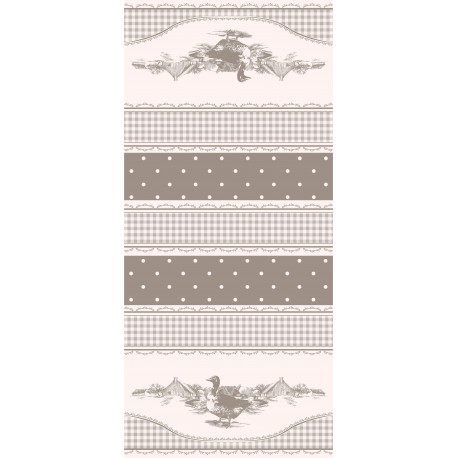 TOILE CIRÉE DUCK taupe