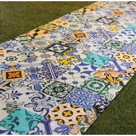 Tapis d'intérieur ARAL bleu 65 cm