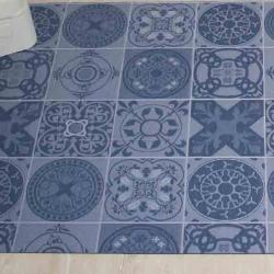 Tapis d'intérieur LUGANO bleu 65 cm
