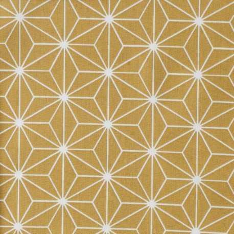 Tissu coton enduit 154 - CASUAL ocre