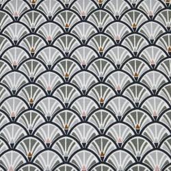 Tissu coton enduit 154 - JACINTHE gris