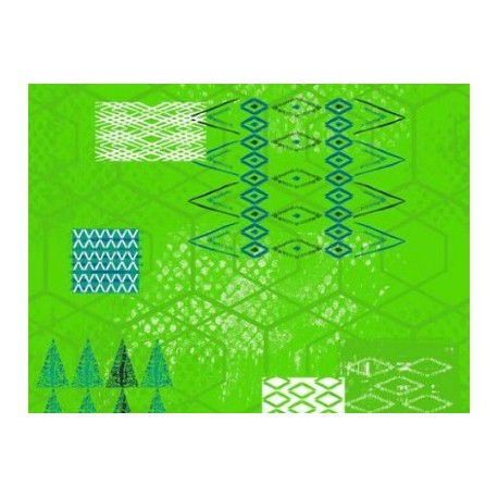 TOILE CIRÉE IROQUOIS vert