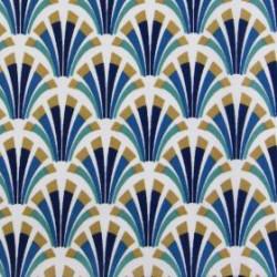 Tissu coton enduit 154 - KOLIX ourson navy